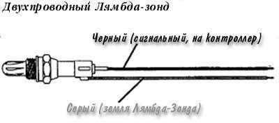 Двухпроводный лямбда-зонд