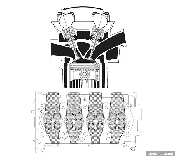 двигатель тойота королла 1 6 1zr fe схема