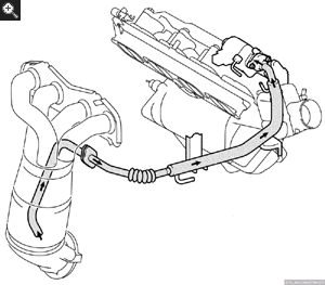 toyota az series engine 2003 Camry Engine Cooling System Diagram egr valve is driven by dc step motor opening angle depends on the engine speed coolant temperature load and vehicle speed