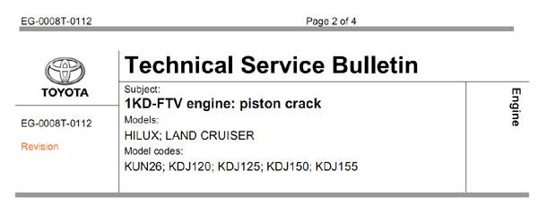 1KD-FTV - piston crack