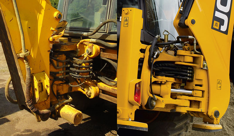 Jcb 3cx 4cx Backhoe Loaders Wiring Diagram Swivel Kingpost Of Sideshift Models Before And After 1997